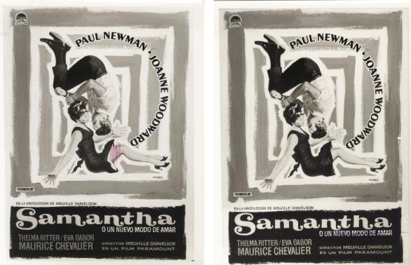 Carteles de Samantha realizados por Mac