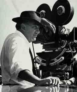 Federico Fellini, en pleno rodaje