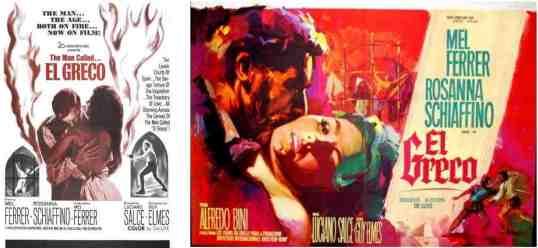 Carteles de El Greco para disgustar a los censores: amores tórridos y salvajes torturas inquisitoriales...