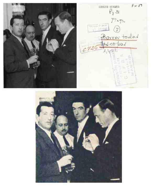 El actor Leslie Howard y el director de NoDo, Joaquín Soriano