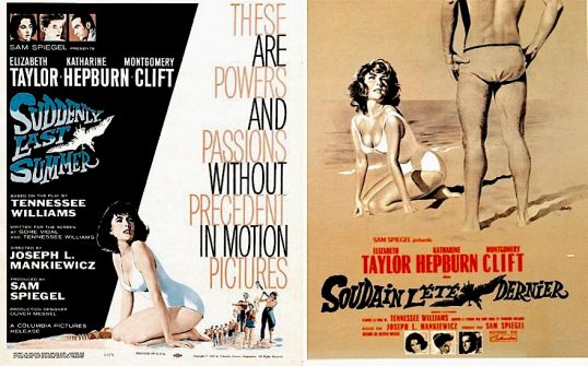 Carteles promocionales de Suddenly, Last Summer